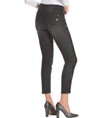 jeans med paljetter amy vermont svart