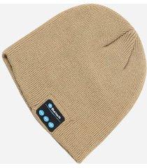gorro de lana de unisex como audifonos de bluetooth e-thinker - caqui