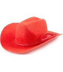 bulk buy: darice diy crafts cowboy hat red felt rope detail 3 inches (12-pack...