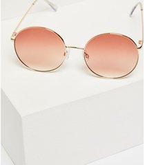 lane bryant women's oversized round sunglasses onesz gold tone