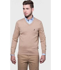 sweater nautica beige - calce regular