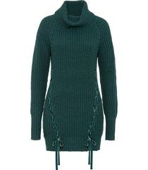 maglione con lacci (petrolio) - bodyflirt