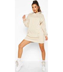 the basic mix & match oversized hoodie dress, sand