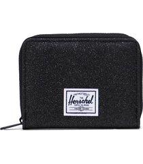 herschel supply co. tyler rfid zip wallet in black sparkle at nordstrom
