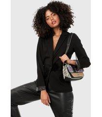 blazer negro desigual
