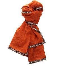 lenço real arte barra bordada laranja