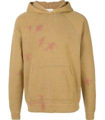 john elliott double dye raglan hoodie - yellow