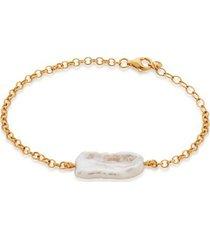 gold nura biwa pearl bracelet pearl