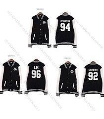 kpop monsta x baseball uniform the clan 2.5 part.1 lost i.m coat varsity jacket