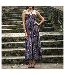 batik maxi dress, 'bali empress' (indonesia)