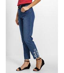 7/8 jeans met borduursel