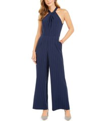 julia jordan pinstriped jumpsuit