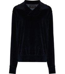 les tien yacht v-neck sweatshirt - blue