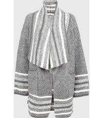 cardigan privilege gris - calce oversize
