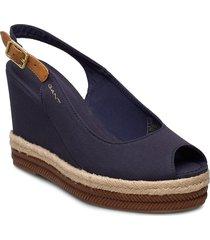 ivalice wedge sandal sandalette med klack espadrilles blå gant