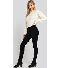 trendyol corduroy knitted tights - black