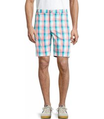 original penguin men's plaid shorts - tanager turquoise - size 30