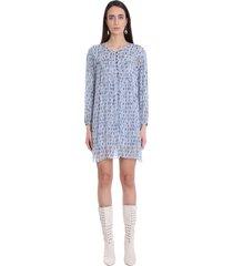 isabel marant étoile dress in blue viscose