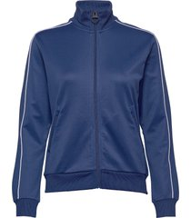 w flow zip jacket sweat-shirt tröja blå peak performance