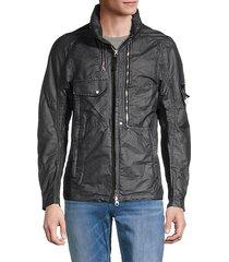 sheen zip coat