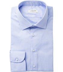 camicia da uomo su misura, ibieffe, icon azzurra oxford cotone, quattro stagioni   lanieri
