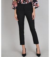 calça feminina skinny com bolso preta