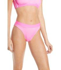 women's luli fama babe in miami bikini bottoms, size large - pink