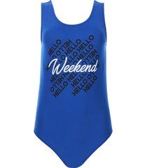 body weekend color azul, talla 6