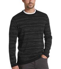 joe joseph abboud black stripe slim fit sweater