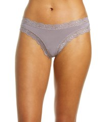 women's fleur't iconic thong, size small - grey