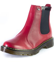 botas  rojo m&m 3312