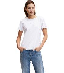 denham t-shirt camellia graphic