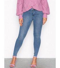 gina tricot molly high waist jeans slim blå
