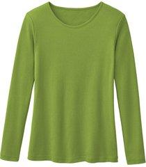 biologisch katoenen shirt met ronde hals en lange mouwen, kiwi 44/46