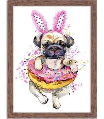 quadro decorativo animal meu melhor amigo cachorro funny madeira - médio