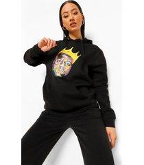 gelicenseerde biggie hoodie, zwart