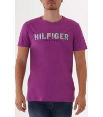 tommy hilfiger applique logo t-shirt - hyacinth violet mw0mw10811