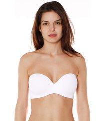 sutiã tomara que caia bojo push up branco - 532.012 marcyn lingerie tomara que caia branco