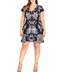 plus size women's city chic mirror power dress
