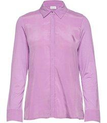 blouse long-sleeve blus långärmad lila gerry weber