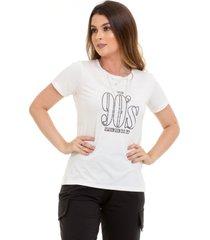 t-shirt maranne manga curta estampa 90s branca