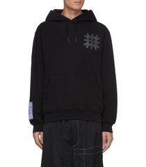 fantasma patch graphic print hoodie