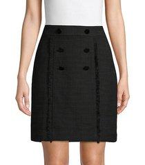 banded cotton blend skirt