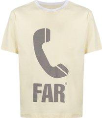 telfar phone print t-shirt - yellow