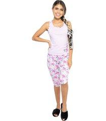 pijama capri dama color morado womanpotsherd ref: capri