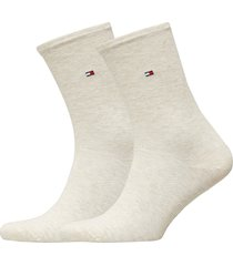 th women sock casual 2p lingerie hosiery socks creme tommy hilfiger
