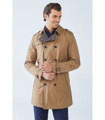 mantel boris becker cone double-breasted trench coat
