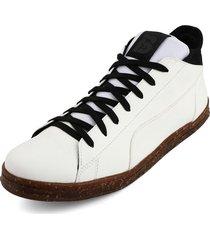 tenis blanco por negro blanco perla 232