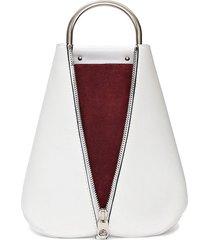 proenza schouler vertical zip backpack - white
