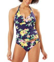 tommy bahama sunlillies reversible halter tankini top women's swimsuit
